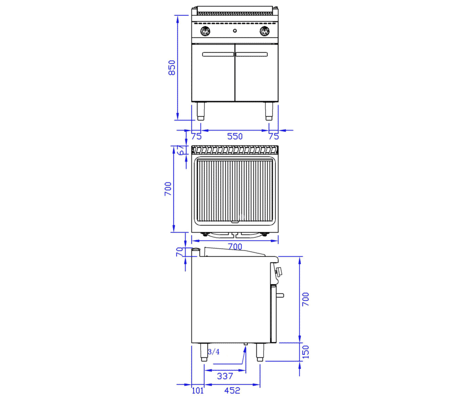 700 Gas Grill With Cabinet 6