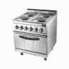 700 Electric 4 Hot Plate Cooker With Oven (Round) 2
