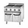 Electric 4 Hot Plate Cooker With Cabinet (Square) 2
